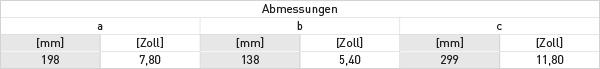 ufc_300-abmessungen-tabelle